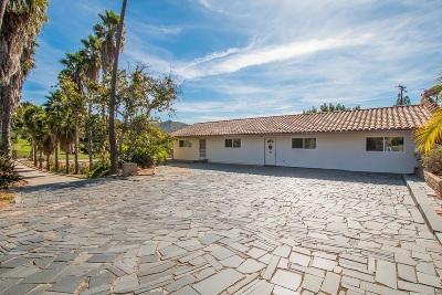 Escondido Single Family Home For Sale: 1763 Cloverdale Rd