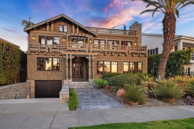 Coronado Single Family Home For Sale: 1706 Monterey Ave