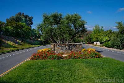 Poway Residential Lots & Land For Sale: Corte Lomas Verdes #8