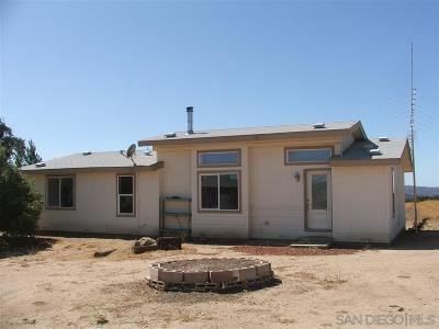 Ranchita Single Family Home For Sale: 27680 Skyway Drive