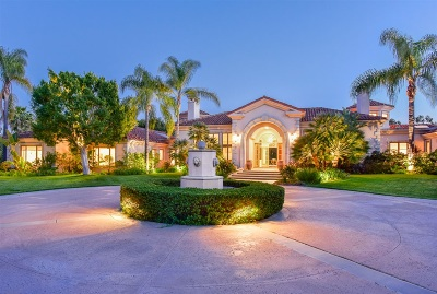 Rancho Santa Fe Single Family Home For Sale: 6655 Primero Izquierdo