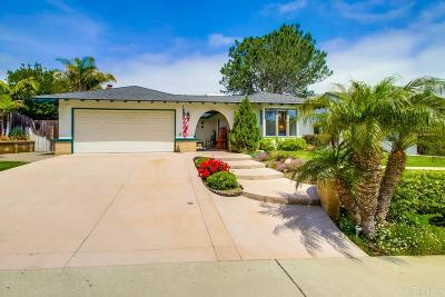 Solana Beach Single Family Home For Sale: 626 Sonrisa St.