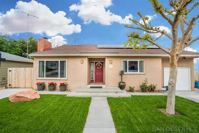 el cajon Single Family Home For Sale: 774 Palomar Avenue