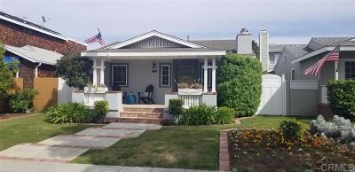 Coronado Single Family Home For Sale: 237 H Ave