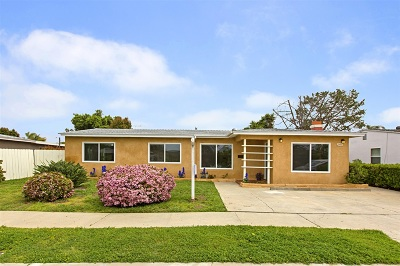 San Diego CA Single Family Home For Sale: $838,000