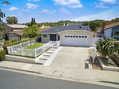 San Diego CA Single Family Home For Sale: $949,000