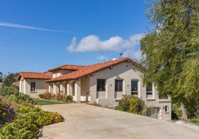 Fallbrook Single Family Home For Sale: 3949 Citrus Dr