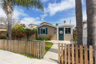 Ocean Beach Single Family Home For Sale: 4928 Brighton Avenue