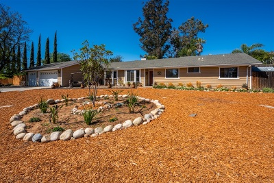 San Diego County Single Family Home For Sale: 801 Steffy Rd.