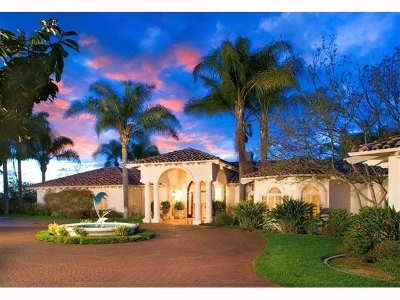 Rancho Santa Fe Single Family Home For Sale: 18103 Via Ascenso