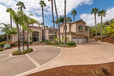 Rancho Santa Fe Single Family Home For Sale: 7345 Vista Rancho Ct.
