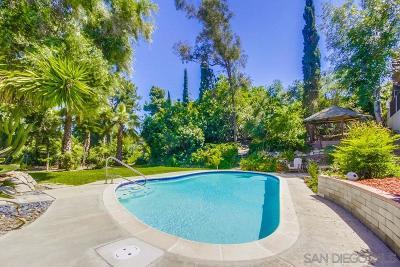 La Mesa Single Family Home For Sale: 8155 Stadler St
