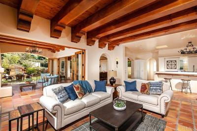 Rancho Santa Fe Single Family Home For Sale: 6533 Paseo Delicias