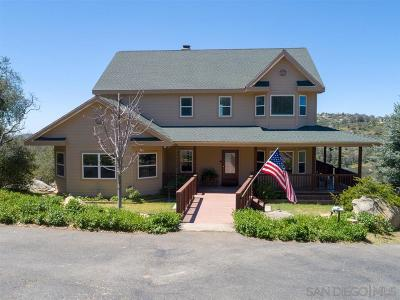 Santa Ysabel Single Family Home For Sale: 1210 Lakedale Rd