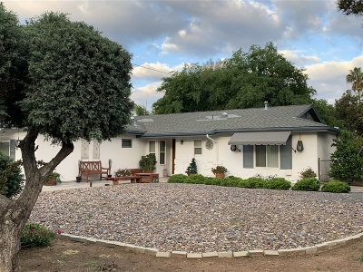 el cajon Single Family Home For Sale: 1850 Wind River Rd