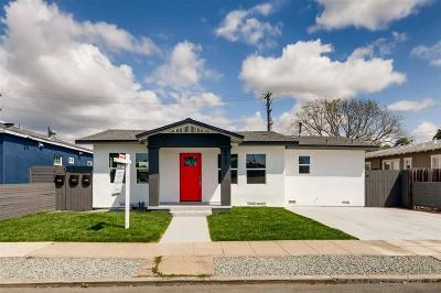 San Diego Single Family Home For Sale: 4427 Central Avenue
