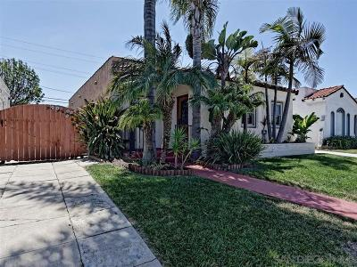 North Park, North Park - San Diego, North Park Bordering South Park, North Park, Kenningston, North Park/City Heights Single Family Home For Sale: 3425 Palm Street