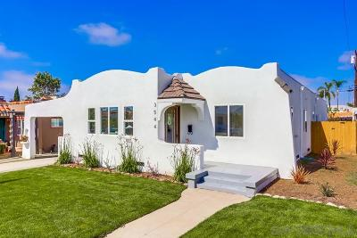 North Park, North Park - San Diego, North Park Bordering South Park, North Park, Kenningston, North Park/City Heights Single Family Home For Sale: 3544 Felton St