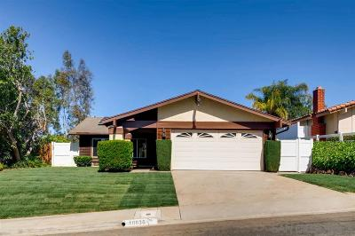 Scripps Ranch Single Family Home For Sale: 10036 Connell Road