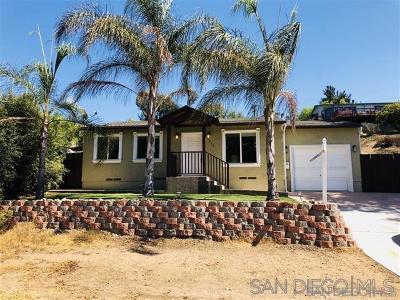 La Mesa Single Family Home For Sale: 4309 Harbinson Avenue