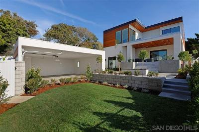 La Jolla Single Family Home For Sale: 1224 Virginia Way