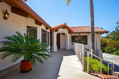 La Mesa Single Family Home For Sale: 4910 Helix Hills Ter