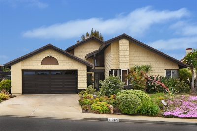 Solana Beach Single Family Home For Sale: 1027 Via Mil Cumbres