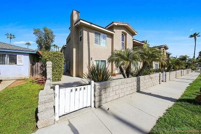 Oceanside Townhouse For Sale: 1836 S Tremont Street