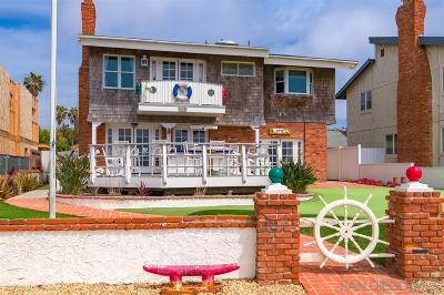 Single Family Home For Sale: 1295 Sunset Cliffs Blvd.