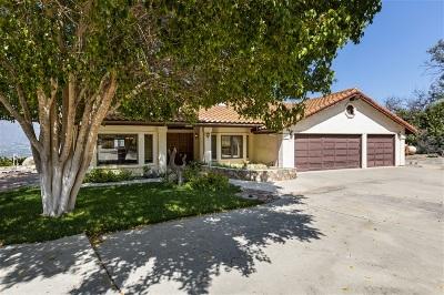 Valley Center Single Family Home For Sale: 32451 Vernie Vista