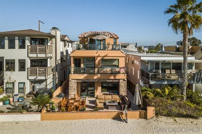 Single Family Home For Sale: 2636 Ocean Front Walk
