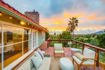 La Mesa Single Family Home For Sale: 9430 La Cuesta