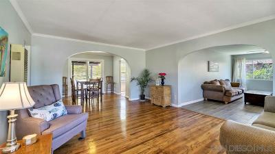 La Mesa Single Family Home For Sale: 7239 Blackton Dr