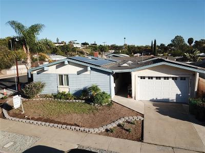 Single Family Home For Sale: 7077 Cowles Mountain Boulevard