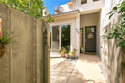 La Jolla Townhouse For Sale: 644 Westbourne Street