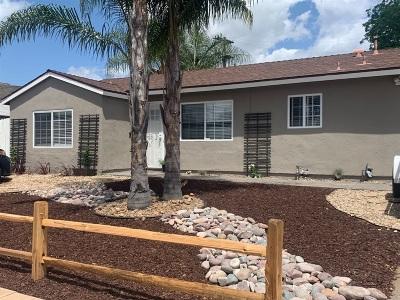 El Cajon Single Family Home For Sale: 1605 N Mollison Ave.