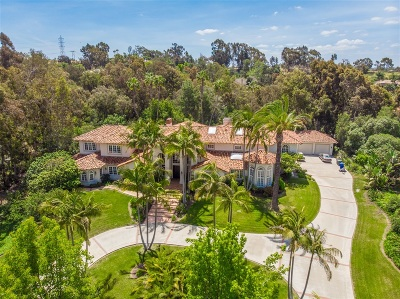 Rancho Santa Fe Single Family Home For Sale: 17608 Calle Mayor