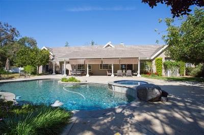 Valley Center Single Family Home For Sale: 14589 Tyler Lane
