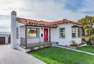 Mission Hills, Mission Hills/Hillcrest, Mission Valley Single Family Home For Sale: 2850 State Street