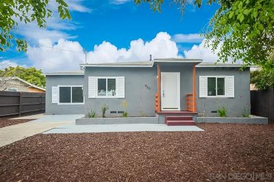 Chula Vista Single Family Home For Sale: 933 Madison Ave