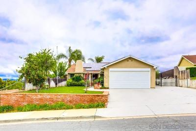 El Cajon Single Family Home For Sale: 8531 Rosada Way