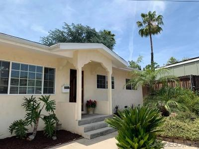 La Mesa Single Family Home For Sale: 7660 Troy Terrace