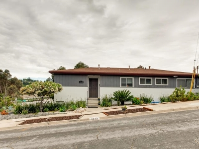 San Diego Single Family Home For Sale: 6042 Fenimore Way