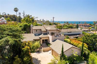 La Jolla CA Single Family Home For Sale: $2,899,000