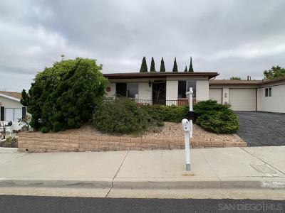 Oceanside Single Family Home For Sale: 3560 Santa Maria St