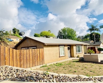 Escondido Single Family Home For Sale: 1581 Stanley Way