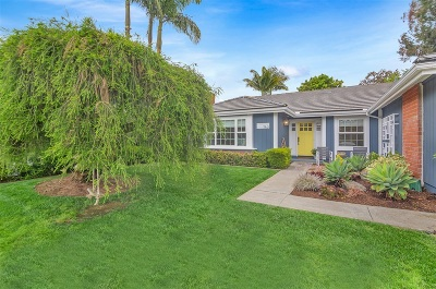Encinitas Single Family Home For Sale: 743 Crest Drive