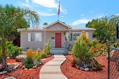 El Cajon Single Family Home For Sale: 556 Grape St