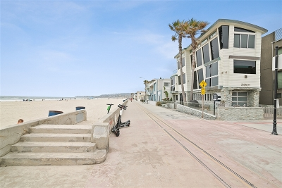 Single Family Home For Sale: 3801 Ocean Front Walk