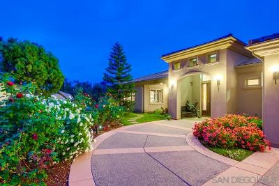 San Diego CA Single Family Home For Sale: $1,950,000